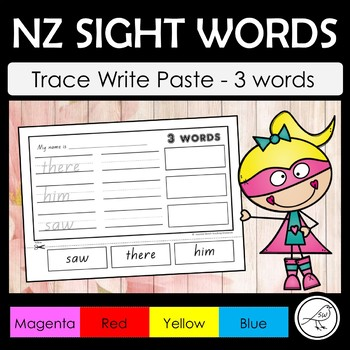 New Zealand Sight Words – Trace, Write and Paste - 3 Words