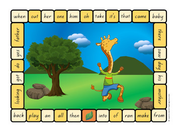 New Zealand Sight Words – Yellow Board Games