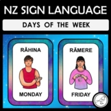 New Zealand Sign Language Days of the Week Charts