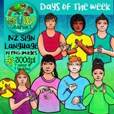 New Zealand Sign Language Days of the Week Clip Art