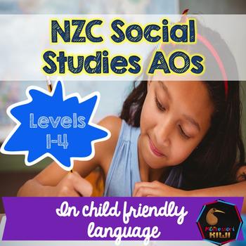 New Zealand Social Studies Child Friendly Achievement Objectives