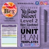 New Zealand Te Reo Maori Unit Plan Template (Level 2 NZC)