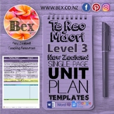 New Zealand Te Reo Maori Unit Plan Template (Level 3 NZC)
