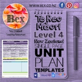 New Zealand Te Reo Maori Unit Plan Template (Level 4 NZC)