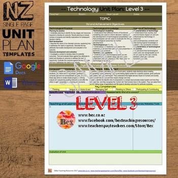 New Zealand Technology Unit Plan Template (Level 3 NZC)