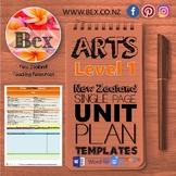 New Zealand The Arts Unit Plan Template (Level 1 NZC)
