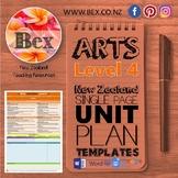 New Zealand The Arts Unit Plan Template (Level 4 NZC)