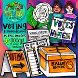 New Zealand Woman's Suffrage & Voting Clip Art