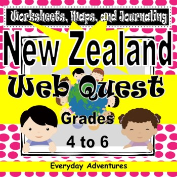 New Zealand:  Worksheets, Maps, and Journaling Pages