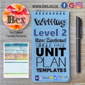 New Zealand Writing Unit Plan Template (Level 2 NZC)
