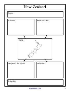 New Zealand and Oceania Geography Notebooking Journal