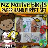 New Zealand native bird paper hand puppets