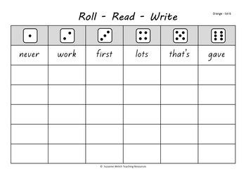 New Zealand Reading - Sight Words – 'roll, read, write' activity