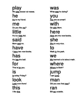 New and Improved High Frequency Words - Red Words