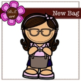 New bag Digital Clipart (color and black&white)