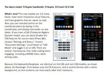 Ti Nspire Cx Worksheets & Teaching Resources   Teachers Pay