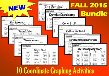 New for Fall 2015 Bundle - 10 Coordinate Graphing Activities