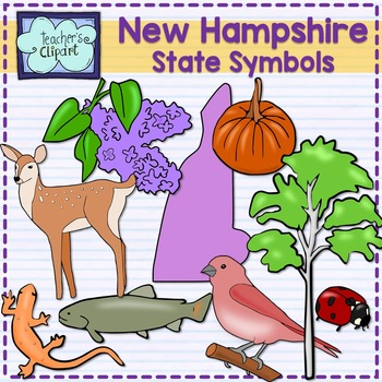 New Hampshire state symbols clipart