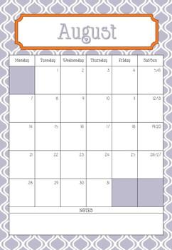 New school calendar for 2017/2018