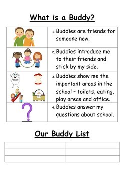 New students - buddy system poster