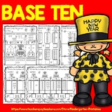 New Years 2020 (Base Ten Blocks Place Value Practice Pages)
