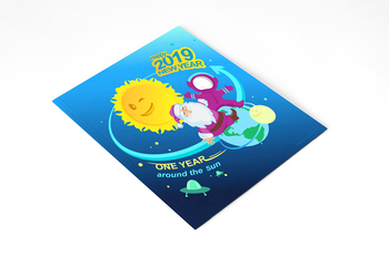 New year activities 2019 resolution / a personalized printable postcard