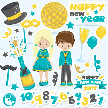 new year kids clipart commercial use vector graphics digital cl1051 new year kids clipart commercial use vector graphics digital cl1051