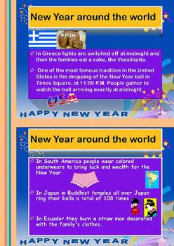 New year worksheet ESL
