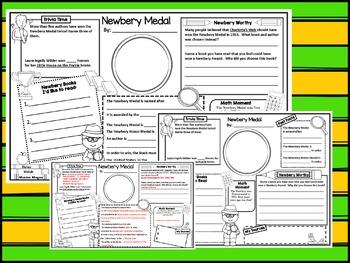 Newbery Award Activity Sheets