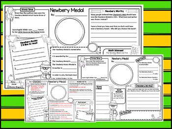 Newbery Award Activity Sheets