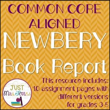 Award Winning Book Report Common Core Aligned