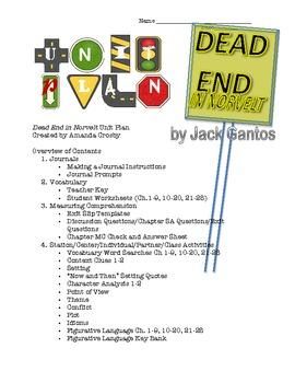Newbery Book Winner 2012, Dead End in Norvelt Unit Plan (Grades 4-8)