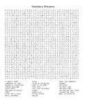 Newbery Winners Word Search