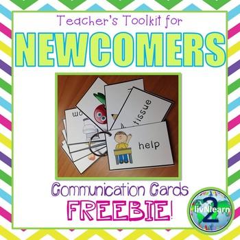 ELL Newcomer Carry Around Basic Communication Cards FREEBIE!