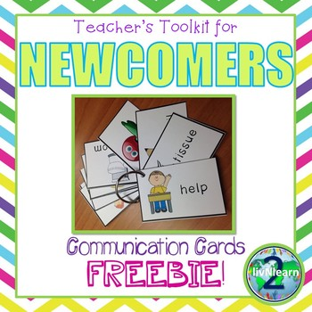 ELL Newcomer Carry Around Basic Communication Cards FREEBIE!