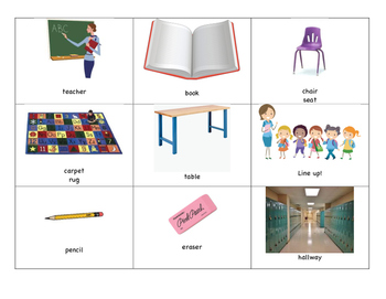 Newcomer ELL/ESL Flashcards - over 80 included!