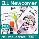 ELL Newcomer No-Prep Starter Pack Booklet