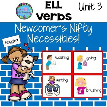 ESL Verbs - ESL Vocabulary for Beginners - ELL Newcomer Activities Unit 3