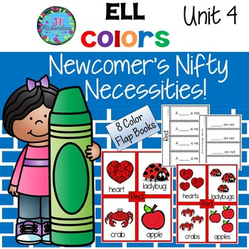 ESL Vocabulary for Beginners Color Words - Flap Books Unit 4