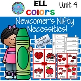ESL Vocabulary for Beginners Color Words - Flap Books Unit 4 ELL Newcomers