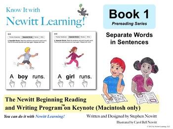 Newitt Book 1 Keynote: Separate Words in Sentences (Macintosh only)