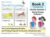 Newitt Book 2 Keynote: Identify Syllables, Blend Onsets & Rimes (Mac only)