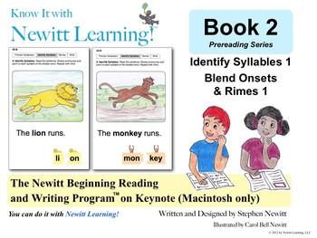 Newitt Book 2 Keynote: Identify Syllables, Blend Onsets &