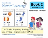 Newitt Book 2 PowerPoint: Blend Onsets and Rimes 1, Lesson