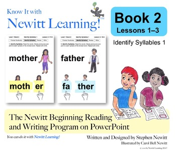 Newitt Book 2 PowerPoint: Identify Syllables 1, Lessons 1–3 (Prereading Series)