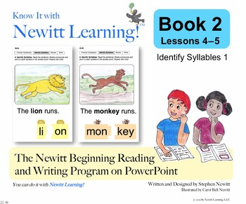 Newitt Book 2 PowerPoint: Identify Syllables 1, Lessons 4–