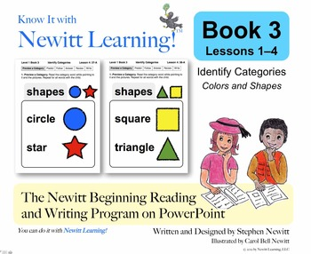 Newitt Book 3 PowerPoint: Identify Categories, Lessons 1–4 (Prereading Series)