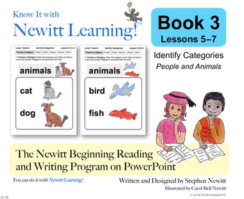 Newitt Book 3 PowerPoint: Identify Categories, Lessons 5–7 (Prereading Series)