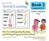 Newitt Book 3 PowerPoint: Identify Categories, Lessons 8–9 (Prereading Series)