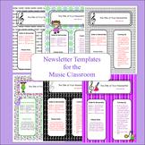 Newletter Templates for Music Class
